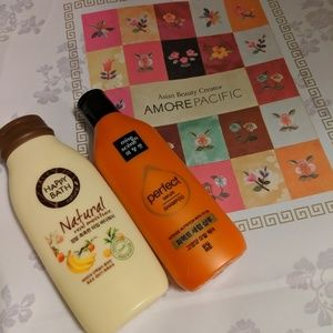 Amore Pacific body wash and shampoo